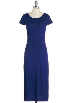 Long-term Love Dress in Blue. Your styling of this royal blue maxi dress marks the beginning of a prosperous and passionate bond! #blue #modcloth