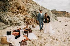 Time to celebrate! with a romantic picnic on the beach at Big Sur, California Pebble Beach California, Big Sur California, California Coast, California Wedding, Wedding Week, Destination Wedding, Ranch Hotel, Aztec Decor, Romantic Picnics
