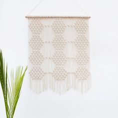 Large Macrame Wall Hanging / Cotton / Geometrical / Honeycomb / Modern Macrame / Home Deco / Hexagon / Wall Art / Minimalistic / Makrame