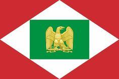 Napoleonic Kingdom of Italy flag Kingdom Of Italy, Patriotic Symbols, Age Of Empires, Military Units, Roman History, Flags Of The World, National Flag, Roman Empire, Coat Of Arms