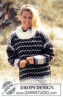 DROPS Sweater nordisk i Karisma med lus og zig zag mønster ~ DROPS Design