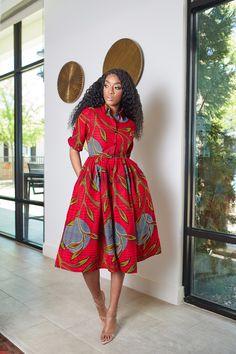 African Shirt Dress, Latest African Fashion Dresses, African Dresses For Women, African Print Fashion, African Attire, African Dress Styles, African Prints, African Print Clothing, African Inspired Fashion