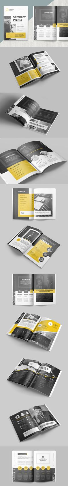 Clean and Professional Company Profile Brochure Template InDesign INDD
