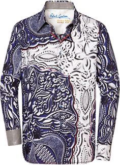 Robert Graham BLOCK, Style RF121029, Fall 2012 Style Me, Cool Style, Silk Shirts, Modern Clothing, Robert Graham, Boys Wear, Men's Hair, Modern Outfits, Cool Shirts