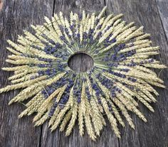 Summer wreath autumn wreath wedding wreath by CadeauDeLaNature - Kränze - Wreaths - Perfekte Oktoberfest-Ideen Diy Spring Wreath, Summer Door Wreaths, Autumn Wreaths, Easter Wreaths, Diy Wreath, Artificial Bridal Bouquets, Corn Dolly, Straw Crafts, Purple Succulents