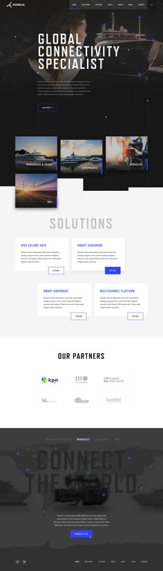 M2m blue home 2x Engineering Websites, Engineering Projects, Web Design Trends, Ux Design, Site Inspiration, Template Web, Site Vitrine, Page Web, User Interface Design