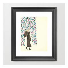 Rain Dance Framed Art Print ($38) ❤ liked on Polyvore featuring home, home decor, wall art, framed art prints, black framed wall art, black wall art, framed wall art and black home decor