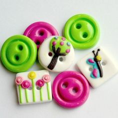 Some of TessaAnn's beautiful buttons:
