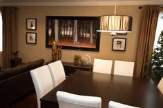 Sit down and have quality time with your loved ones in this comfortable dining room! Stick with warm tones of brown to keep everyone at ease in this beautiful space. Discover more creative dining room options at SCD Design & Construction!