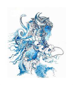 Shiva, the Destroyer by Ujan Dutta Shiva Linga, Shiva Shakti, Shiva Art, Krishna Art, Indian Gods, Indian Art, Rudra Shiva, Shiva Lord Wallpapers, Lord Shiva Family