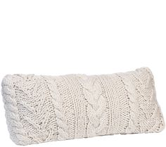 Bring some classic appeal to your home decor this winter with Berkshire Blanket's long pillow. Its chunky design displays a cable knit sweater pattern with timeless appeal. From Berkshire Blanket. QVC.com
