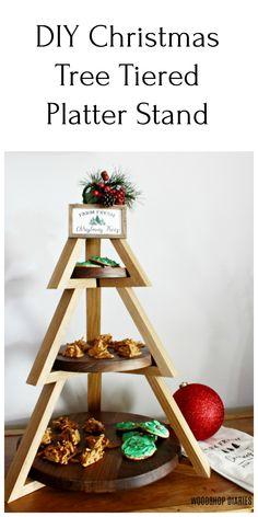 DIY 3 Tier Christmas Candy Platter