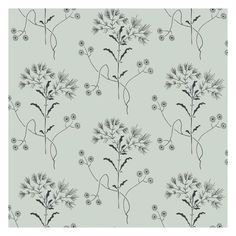 Wildflowers are thinly drawn in a delicate pattern, recognizing that beauty blooms in the most unlikely of places. This wallpaper is prepasted, washable, and strippable and comes in 20.5 inch rolls with a 10.25 inch repeat.Due to the printing process, there may be color variations in different print runs. We recommend purchasing all wallpaper needed for a project at one time for the best color consistency.We suggest consulting a professional prior to purchasing to determine how many rolls ar Field Wallpaper, Home Wallpaper, Wallpaper Roll, Wallpaper Ideas, Bathroom Wallpaper, Wallpaper Designs, Wallpaper Samples, Designer Wallpaper, Black Design Wallpaper