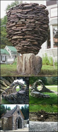 In the world of dry stone building, Thea is an absolute legend although she is extremely modest about her skills,  always pushing credit toward others.  This is just three of the many incredible works of Thea Alvin. View all of her dry stone creations in this album http://theownerbuildernetwork.co/ck0z  If you love her work as much as we do, say so!