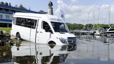 Observers may have been surprised when they saw a Mercedes mini-van drive into the Vltava river a few miles outside Prague. A GPS gone wrong? A suicide attempt? Or a not… Mercedes Sprinter, Sprinter Van, Amphibious Vehicle, The Real World, Amphibians, Small Towns, Prague, Vans, River