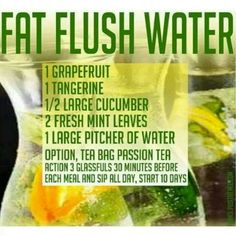 Fat Flush Water Ready to make some today?