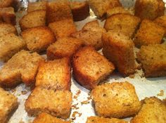 Life Happens ...: Home Made Croutons