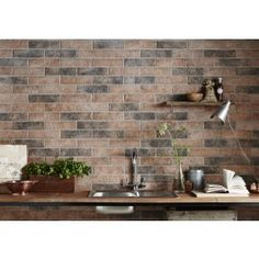 Real Thin Brick tiles are custom made to order. Our brick tiles can be used for brick flooring, brick wall veneer, and brick pavers. Real Thin Bricks are perfect for any home or commercial project. Brick Effect Tiles, Brick Tiles, Brick Flooring, Thin Brick, Grey Brick, Easy Home Upgrades, Black And White Tiles, Kitchen Wall Tiles, Home Decor Paintings