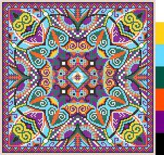 motif carr g om trique pour point de croix broderie traditionnelle ukrainienne qui aiment la main et Banque d'images