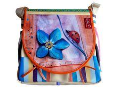 """Die neue lässige Schultertasche von Leolini heißt """"Vergissmeinnicht""""!    Wonderful selection of handmade bags"""