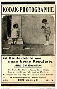 Original-Werbung/ Anzeige 1909 - KODAK PHOTOGRAPHIE - ca. 80 x 135 mm