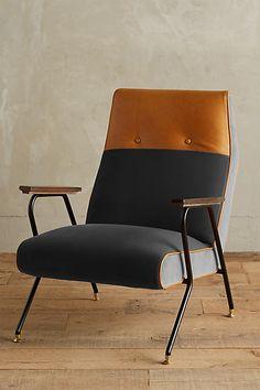 Anthropologie Velvet Quentin Chair