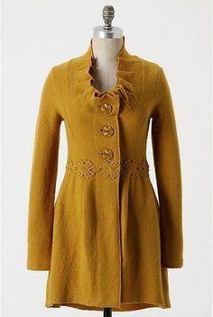 XS nwot Rare Anthropologie Charlie Robin Alice in Autumn Sweater Coat Cardigan