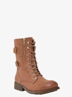 Lace-Up Combat Boots (Wide Width)