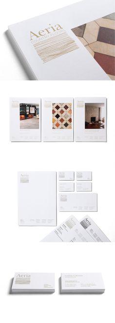 Aeria by Ascender #brand #branding #identity #design #visual #stationery #business #cards #letterhead #aeria #flooring #logo #logotype #pattern #mark #design