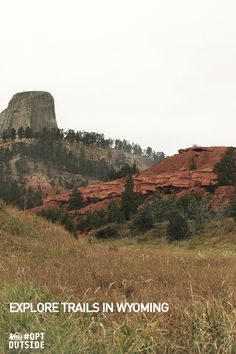 """This Black Friday, skip shopping and experience the beauty and wonder of Devils Tower National Monument in Wyoming. This national park is a climber's challenge with the Tower, a solitary, stump-shaped granite formation that looms 1,267 feet above the Belle Fourche River Valley. Experience this Wyoming treat or explore other trails in the area at optoutside.rei.com.  Photo credit: ©2015 VisitTheUSA.com from the film """"National Parks Adventure"""""""