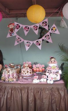 Monkey Girl Baby Shower Party Ideas