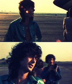 Jimmy Page on the tarmac with the Starship