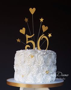 Cupcake tower cake closeup of anniversary Cupcake tower cake for the . Cupcake tower cake closeup of anniversary Cupcake tower cake for the anniversary… Aniversary Cakes, 50th Wedding Anniversary Cakes, Golden Anniversary Cake, Anniversary Ideas, Bolo Floral, Birthday Cakes For Women, 50th Birthday Cupcakes, Golden Birthday Cakes, Birthday Ideas