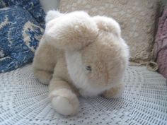 Vintage Gund Cream and White Bunny From 1988 Rabbit by Daysgonebytreasures on Etsy