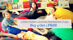 Jumbo Cushions for Librarys & Reading Class - Buy 4 Get 1 FREE Promotion - BT Education
