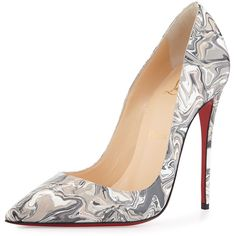 Christian Louboutin So Kate Metallic Red Sole Pump ($740) ? liked ...