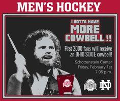 Men's Hockey, Hockey Games, Buckeye Game, Cowbell, Ohio State University, Alma Mater, Notre Dame, Fans, Memes