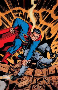 DC: The New Frontier - Superman vs. Batman by Darwyn Cooke.