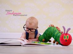 The Very Hungry Caterpillar, 4 month old session