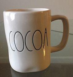 Rae-DUNN-MAGENTA-COCOA-Coffee-Tea-MUGS-CUP-White-Black-New