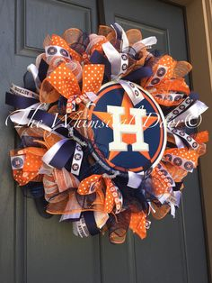 Hey, I found this really awesome Etsy listing at https://www.etsy.com/listing/244535104/houston-astros-decomesh-wreath-baseball