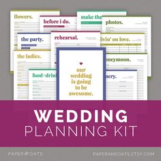 Wedding Planner Kit - PDF Digital Printables | Wedding, Planners and ...