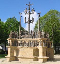 Scène sculptée du calvaire de Plougastel-Daoulas