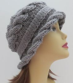 Hat Pattern, Knitting Pattern, PDF 155 Knitting Hat Pattern, Arabella Hat and Headband Cables, Tam, Beret, Brimmed Hat, Bucket Hat, Cloche