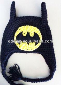 Free Batman Beanie Crochet Pattern | batman baby crochet hat&caps acrylic beanie MINIONS, View crochet ... by mdloper