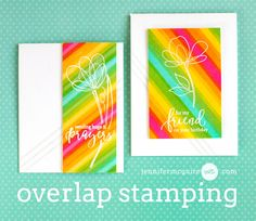 """Overlap Stamping Video by Jennifer McGuire Ink featuring the new Simon Says Stamp """"Reason to Smile"""" release!"""