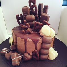 My first chocolate drip cake.... Had one very happy birthday boy when it was delivered.