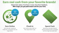 Have you heard of Jingit? Jingit allows you to earn real cash in return for watching ads online, for checking in and shopping for select products at your favorite stores and even for giving your feedback to leading brands by taking brief surveys. I just learned about Jingit this morning and easily signed up for [...]