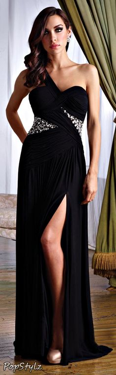 Terani Couture Long Black Gown
