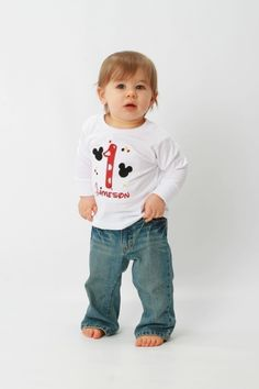 Custom Minnie Mouse Shirt and Mickey Mouse by customclothesforkids